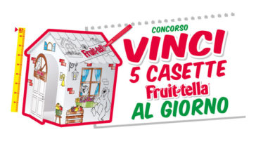 Fruittella: vinci casette di cartone da colorare