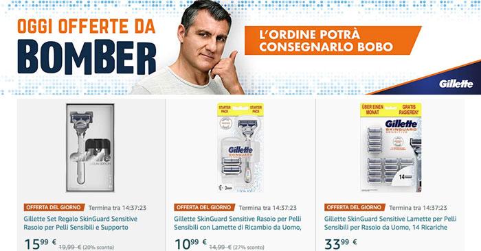 Gillette e Amazon: l'ordine te lo porta Bobo Vieri!