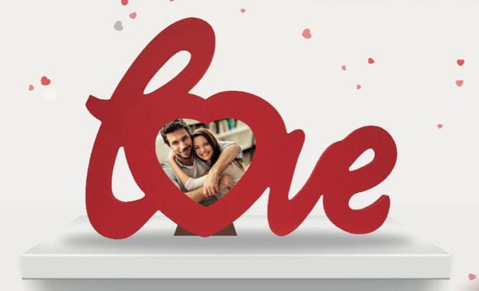San Valentino Acqua&Sapone: portafoto Love in regalo!