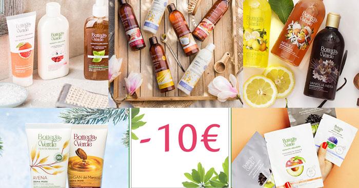 Sconti Bottega Verde di Febbraio: 10€ omaggio + spedizione gratuita