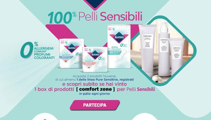 """Nuvenia: concorso """"100% pelli sensibili"""""""
