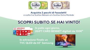 Scottex: gioca e vinci buoni spesa