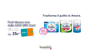 Scottex ti regala le gift card Tigotà