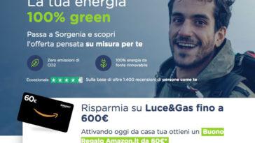 Sorgenia: scopri le nuove offerte e ricevi buoni regalo Amazon