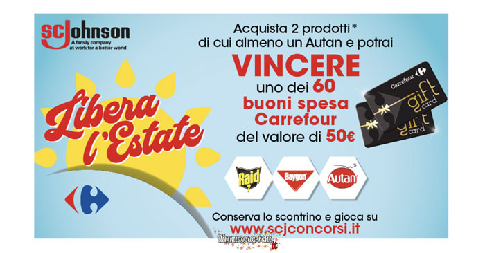 "Concorso ""Libera l'estate"" S.C. Johnson"