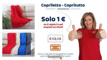 Copriletto a 1 euro