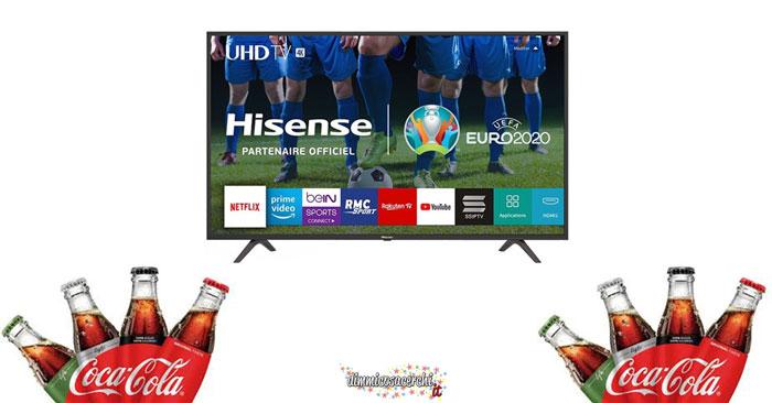 Vinci televisore con Coca‑Cola e Lidl