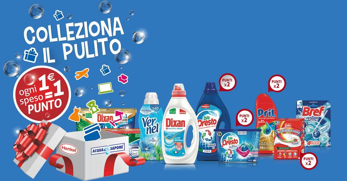 Colleziona il pulito Henkel: come funziona la raccolta punti