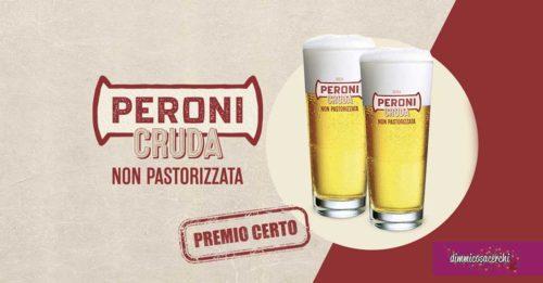 Bicchieri Peroni: omaggio premio certo