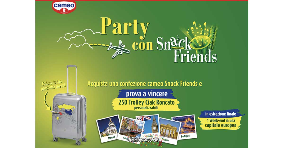 "Cameo ""Party con Snack Friends"""