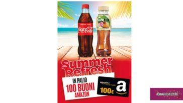 Coca-Cola: vinci buoni Amazon in Autogrill