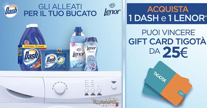 Concorso Dash e Lenor: vinci gift card Tigotà