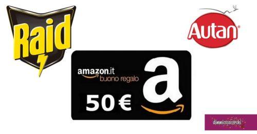 Raid e Autan: vinci buoni Amazon da 50€