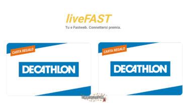 Fastweb: vinci carte regalo Decathlon