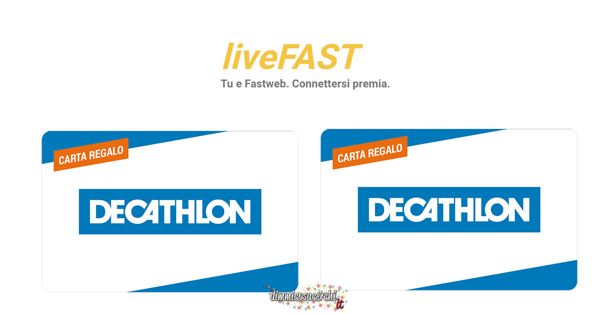 Fastweb: vinci carte regalo Decathlon