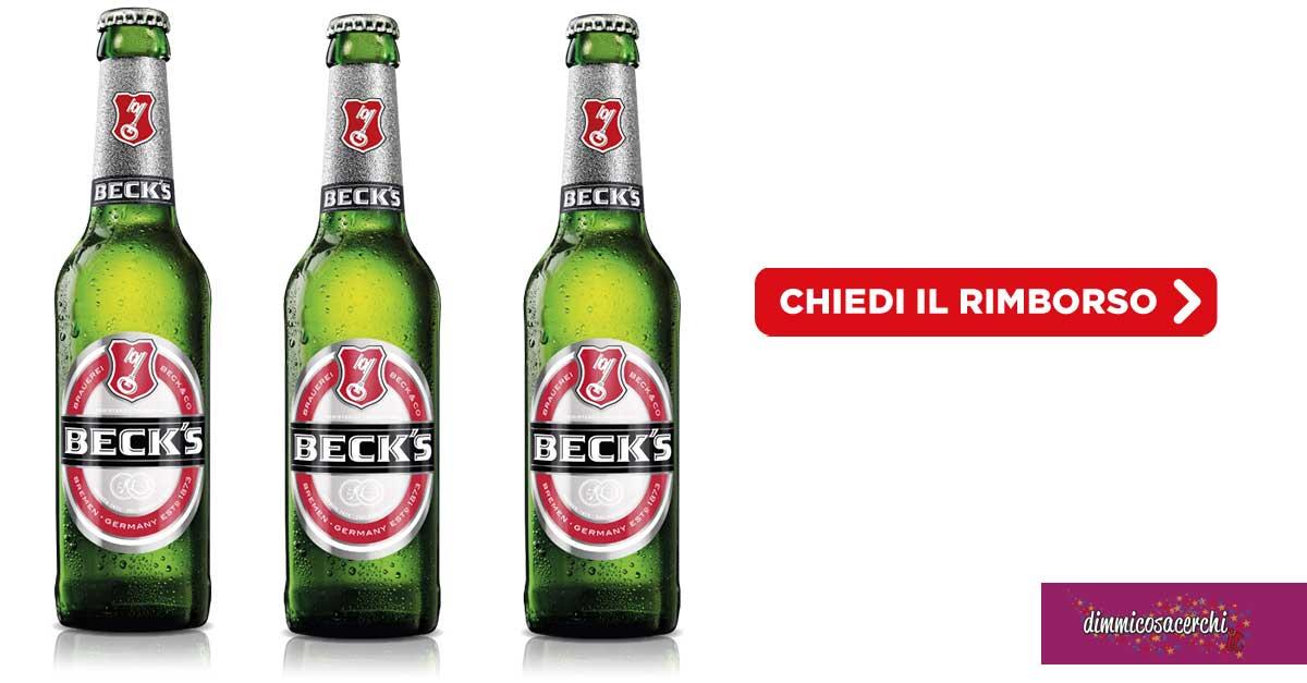 Beck's ti regala: rimborso di 10€