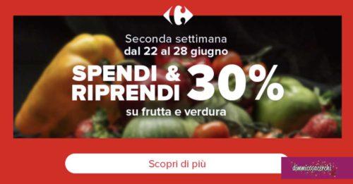 Carrefour: spendi e riprendi frutta e verdura