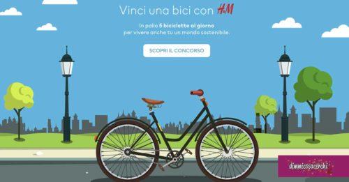 Vinci una bicicletta con H&M
