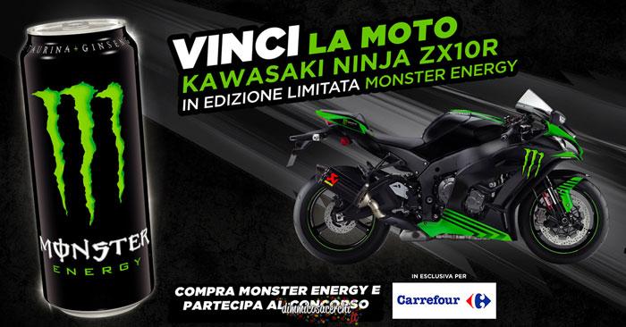 Vinci una moto con Monster e Carrefour