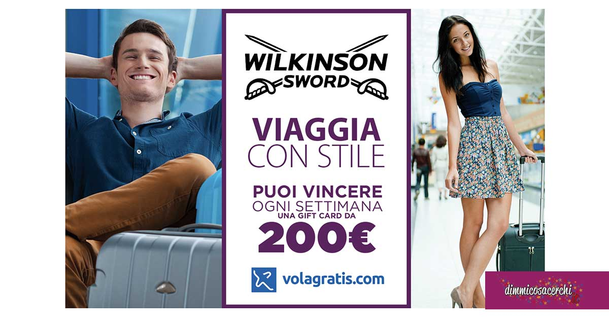 """Concorso Wilkinson """"Viaggia con stile"""":"""