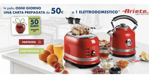Vinci buoni spesa ed elettrodomestici Ariete con Henkel e Esselunga