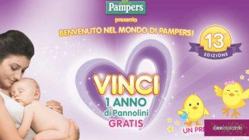 """""""Benvenuto nel mondo di Pampers"""": vinci un anno di pannolini"""