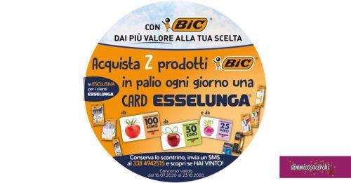BIC: vinci card Esselunga ogni giorno