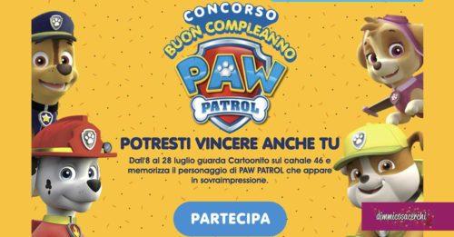 """Concorso """"Buon compleanno Paw Patrol"""""""