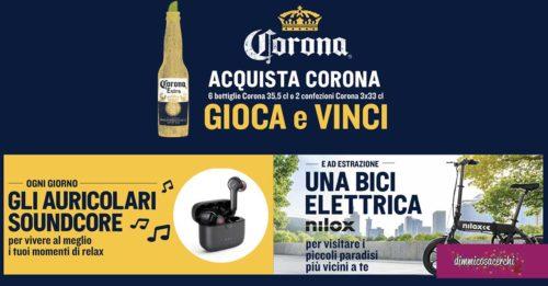Birra Corona: vinci biciclette e auricolari soundcore