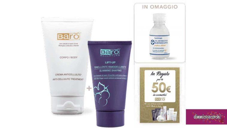 Barò Cosmetics: offerta anticellulite + gel igienizzante omaggio