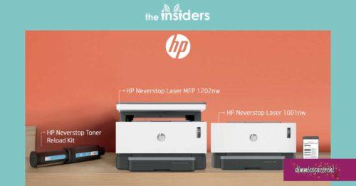 Stampanti Laser HP Neverstop: diventa tester