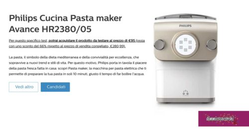 Diventa tester Philips Cucina Pasta maker Avance