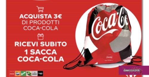 Sacca Coca-Cola in regalo da Carrefour