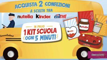 Vinci kit scuola Ferrero ogni 5 minuti