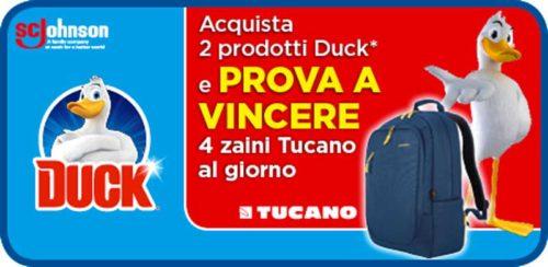 Vinci uno zaino Tucano con Duck