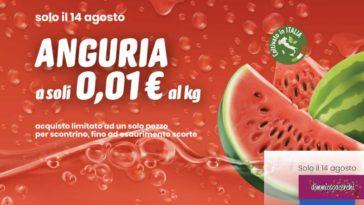 Eurospin: anguria a 1 centesimo al Kg