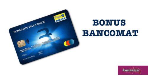 Bonus bancomat: cos'è e come funziona
