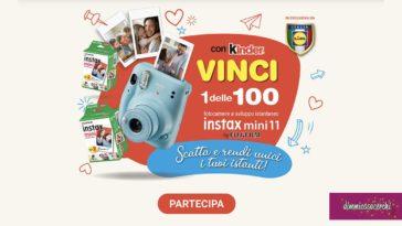 Concorso Kinder LIDL: vinci fotocamere istantanee