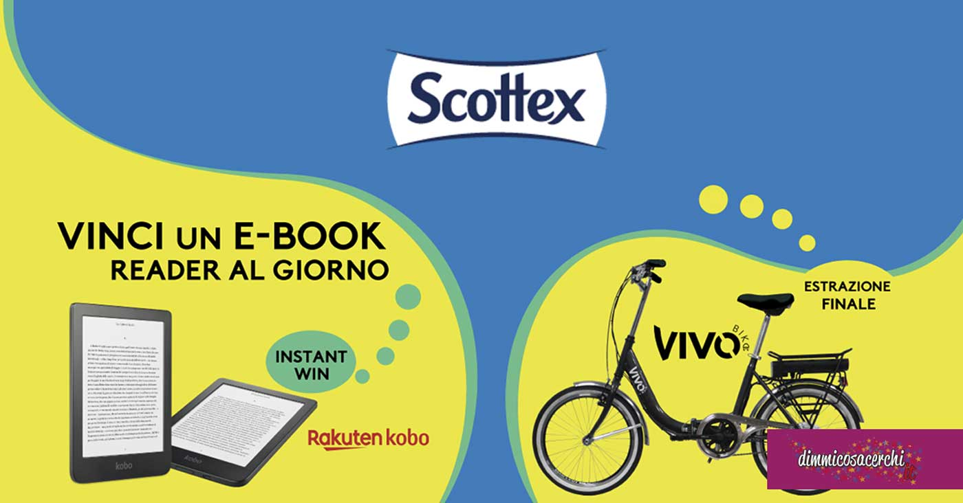Scottex: vinci e-book e bicicletta Vivo Bike