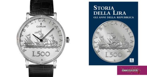 """Orologio Artisan Coin Watch 500 LIRE: in regalo il libro """"Storia della lira"""""""
