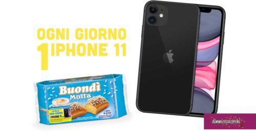 Vinci iPhone 11 con Buondì Motta