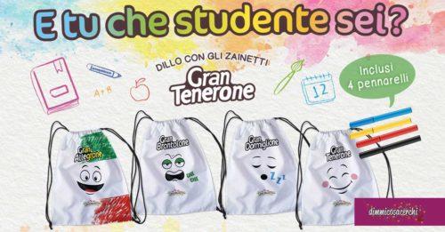 Zainetti Gran Tenerone omaggio