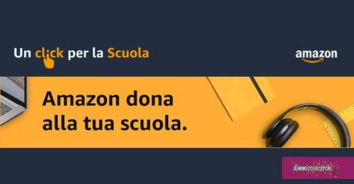 """Amazon: """"Un click per la scuola"""""""