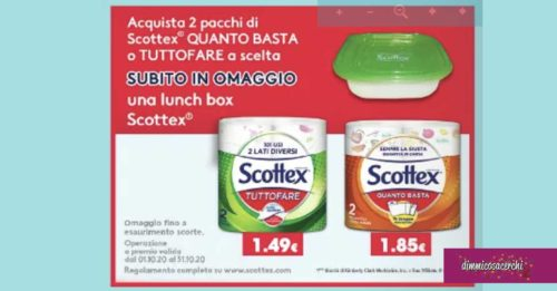 Lunch Box Scottex in regalo
