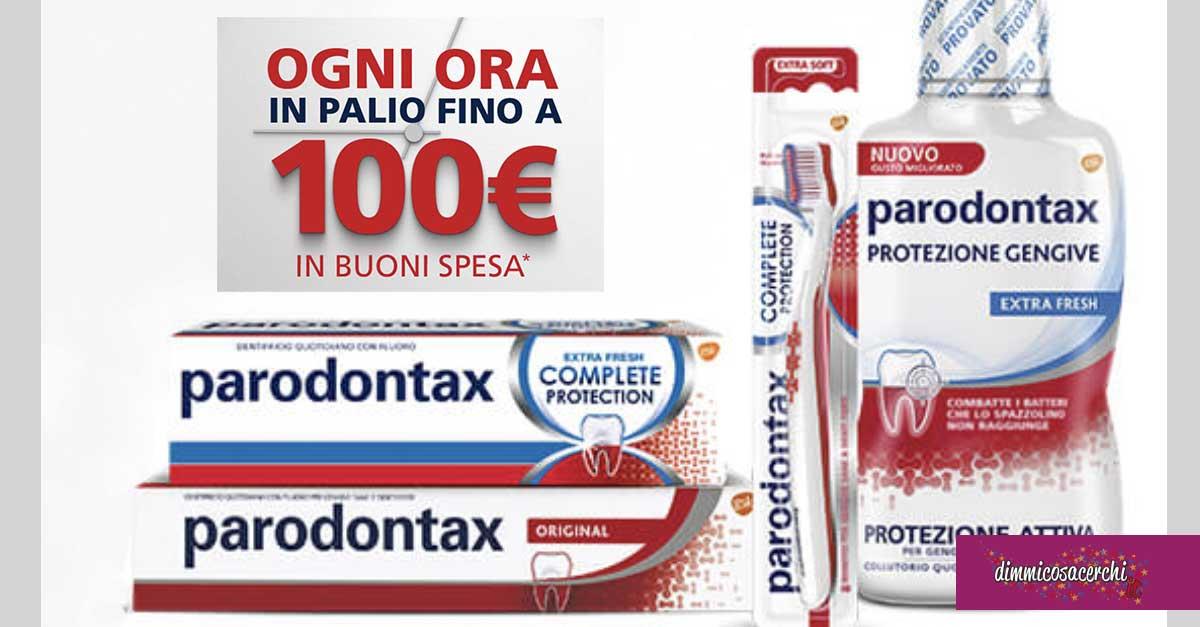Parodontax: vinci ogni ora 100€ di spesa