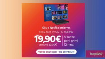 Sky e Netflix insieme