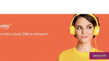 Buono 20 euro Amazon con Audible