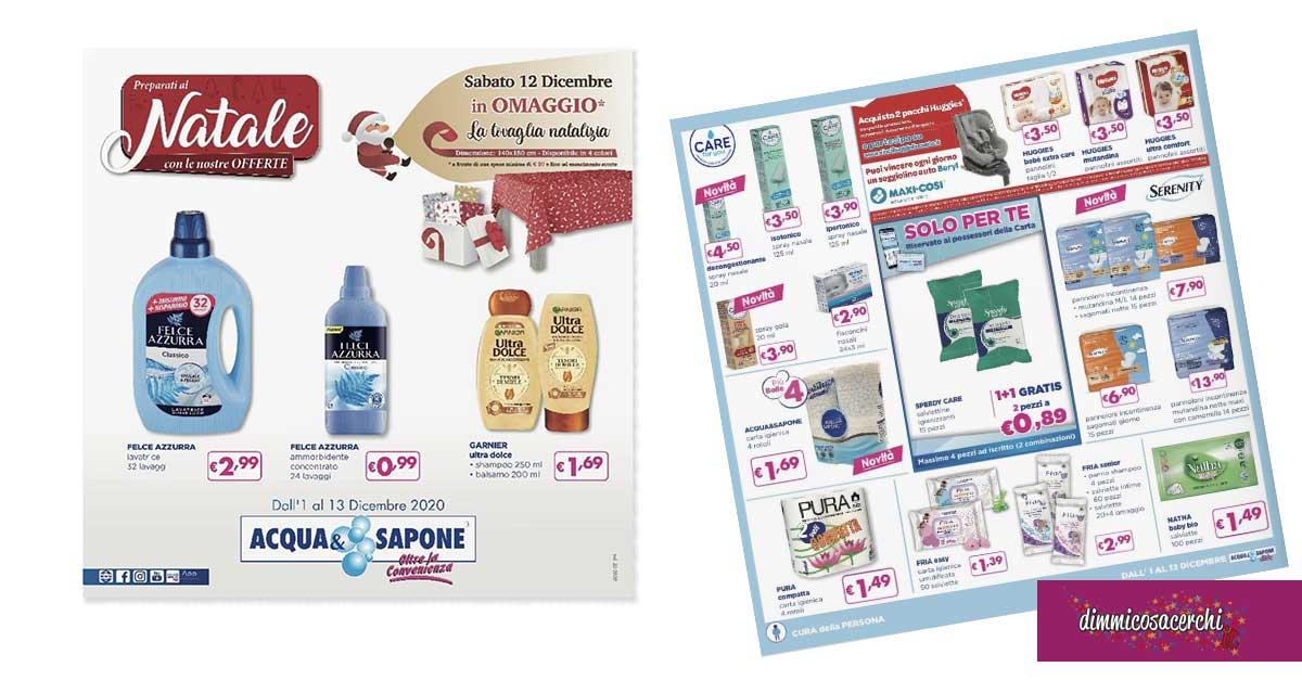 Volantino Acqua&Sapone dal 1 al 13 dicembre