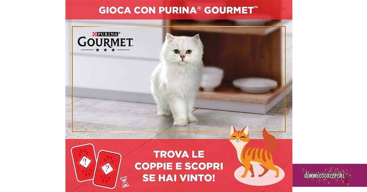 Vinci prodotti Gourmet con Purina Memory
