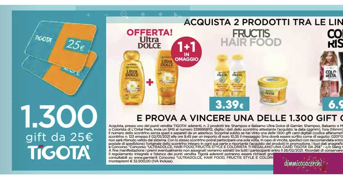 Vinci gift card con Ultra Dolce